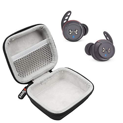 JBL x UA True Wireless Flash in-Ear Sport Headphones Bundle with gSport Deluxe Hardshell Case (Black)