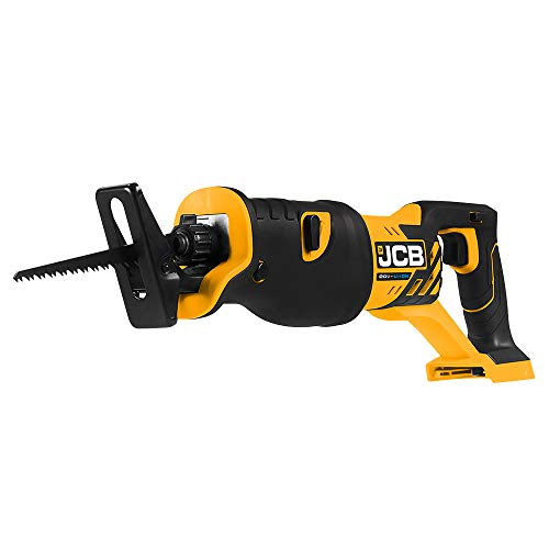 JCB Tools - JCB 20V Cordless Reciprocating Saw Power Tool - Without Battery - For Demolition, Remodeling, Drywall Cutting, Branch Cutting, Wood, Plastic, Metal, Pruning - Bare Unit