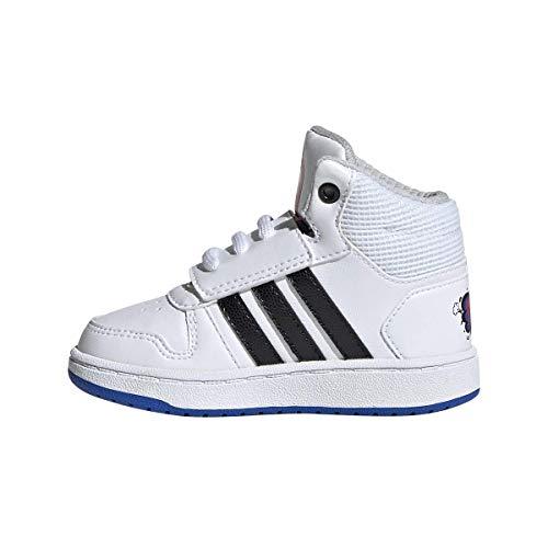 adidas Unisex Baby Hoops Mid 2.0 I Hausschuhe, Weiß (Ftwbla/Negbás/Azul 000), 19 EU