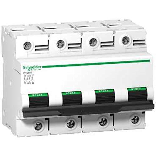 Schneider Electric A9N18481 Interruptor Automático Magnetotérmico C120H, 4P, 125A, curva C