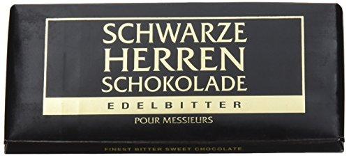 Schwarze Herren Schokolade Edelbitter, 10er Pack (10 x 100 g)