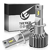 TECTICO H3 6000k + Lampadine per fari a LED Luce abbagliante (3500lm) / Luce anabbagliante (5300lm) 28w + 10% Mini formato super luminoso,Kit di conversione sostituzione faro,2 pezzi