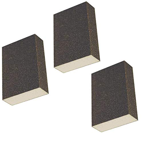 Arology Sanding Sponges Blocks, Washable, Reusable Sanding Kit, Easy Grab, For Drywall, Kitchen, Wood, Metal, Painted Surface, Grinding, Polishing, Any Hand Sanding Works (3 Pieces)