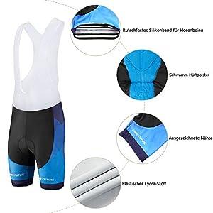 shine future Conjunto de maillot de ciclismo para hombre, camiseta de manga corta y pantalones cortos de ciclismo, juego de ropa de ciclismo para hombre con correa antideslizante (azul, XL)