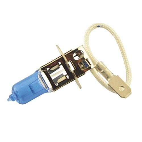 ZGMA 2pcs H3 Automatique Ampoules électriques 100W 1100lm Lampe Frontale/Feu Antibrouillard Warm White