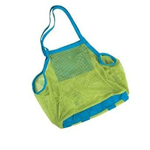 Yookat Beach Mesh Tote Bag Beach Toys/Shell Bag Stay Away from Sand for The Beach, Pool, Boat - Perfect for Holding Childrens' Toys (XL Size)