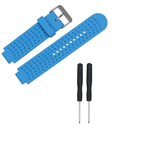 para Garmin Forerunner 25 Correa de Reloj para Mujer Pulsera Inteligente Correa de Silicona Azul Cielo Hombre