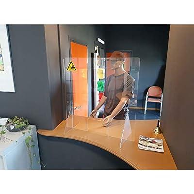 Tipo de producto: pantalla mampara protectora Versátil: se puede utilizar de forma en una amplia variedad de entornos, como farmacias, consultas médicas, bancos, panaderías, oficinas, cafeterías, recepciones, mostradores de tiendas, clínicas, hospita...