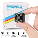 HankeRobotics Mini Spy Camera,1080P Hidden Camera Cop Cam with IR Night Vision and Motion Detection,Micro Surveillance Camera for Home,Office,Car and Drone
