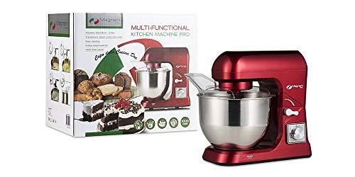 MAGNANI Multifunctionele keukenmachine 1000 W rood, Kneedmachine met 6 snelheidsniveaus, Mixer, Mixer met 5L Roestvrijstalen mengkom