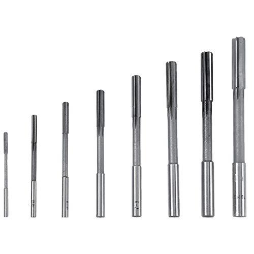 Escariador para máquina (8 piezas, HSS, herramienta de corte de alta dureza para 3/4/5/6/7/8/9/10 mm)