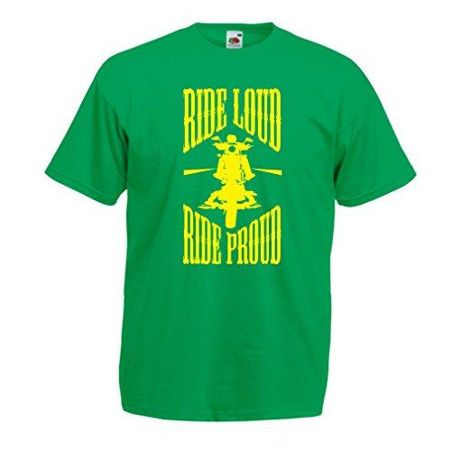 N4695 Männer T-Shirt Ride Loud! (Medium Grün Mehrfarben)