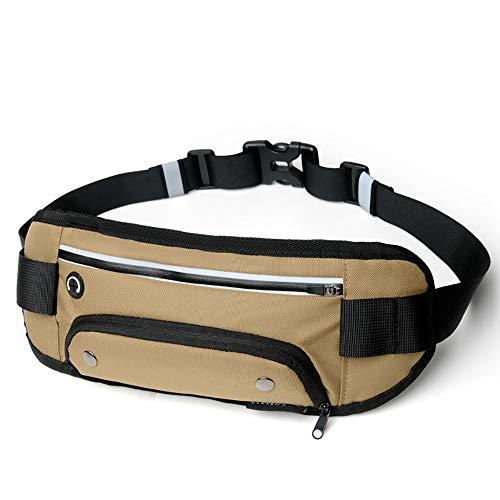 SKAJOSDA Sports Waist Bag, Personal Anti-Theft Water Bottle Bag, Suitable for Outdoor Running, Traveling and Walking, The Best Birthday Gift,Beige