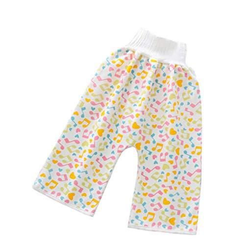2020 Nuevos Pantalones Cortos De Falda De Pañal Para Niños 2 En 1 Pantalones Impermeables a Prueba De Fugas Que Protegen El Vientre Pantalones De Bebé Reutilizables Y Lavables (yellow, Medium)