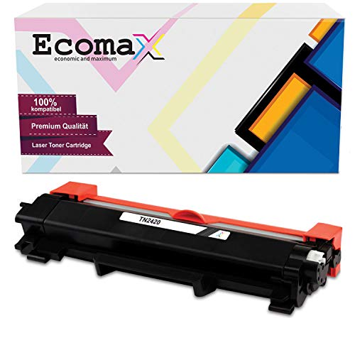 Ecomax toner compatibel met Brother TN-2420 TN-2410 HL-L2310D HL-L2350DW HL-L2370DN DCP-L2530DW MFC-L2710Dn DW MFC-L2750DW - zwart 3.000 paginacapaciteit