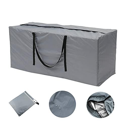 Bolsa Impermeable para Cojines de jardín, Protege Cojines Sofas, Cojines para sillas y Muebles de Jardin, Tela Poliester Gruesa con Bolsa de Transporte y asa (122x55x39cm)