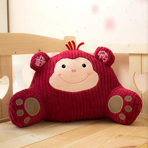 FEPRII Almohada de lectura de algodón y lino – Cojín de espalda para silla – Funda transpirable suave apoyo perfecto comodidad premium – La mejor almohada de lectura del año almohada de apoyo