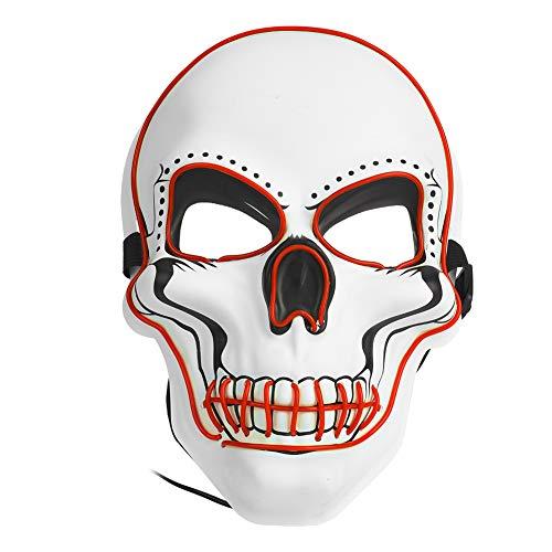 Tbest masker doodshoofd, glinsterend masker skelet grappig voor Halloween Cosplay Kerstmis