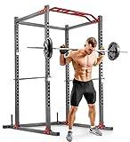 Hop-Sport Power Rack mit Klimmzugstange - Pulverbeschichtetes Stahl Squat Rack