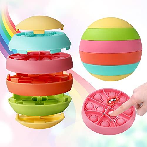 SUNONEP Pop its Fidget Sensory Toy Push Pop Bubble...