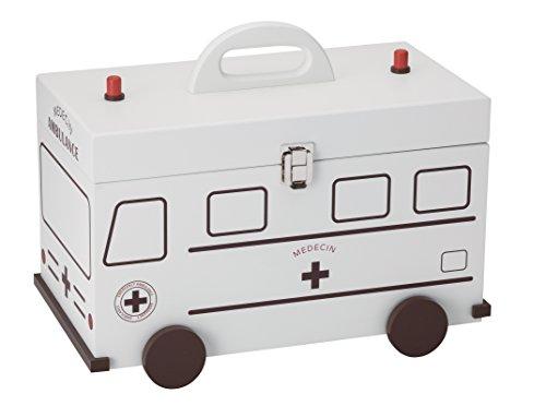 イシグロ ファーストエイドキット 救急箱 救急車 ホワイト 60057