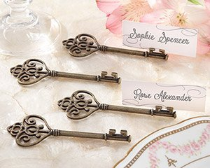 Key To My Heart Victorian-Style Key Place Card Holder (24 Sets of 4)