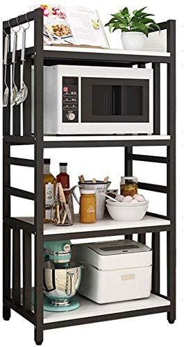 Stijlvol en eenvoudig huis op de vloer staande keuken plank 4 lagen Magnetron Oven Rack, Spice Rack, Multi-Function Storage Rack, C-F 50CM B