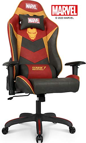 Marvel Avengers Gaming Chair Office Chair Computer Racing Desk Chair Black - Endgame & Infinity War Series Marvel Legends, (Iron Man, Red)