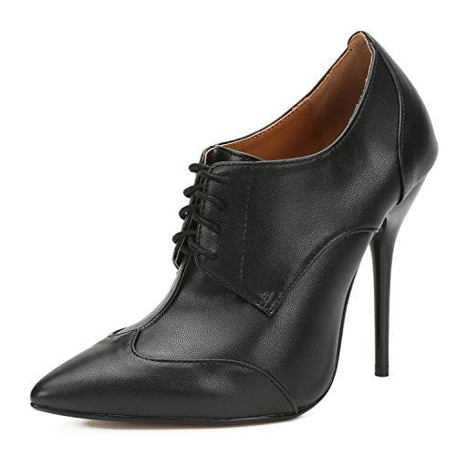 LMZX - Zapatos de tacón alto para mujer, con punta de bombas de trabajo, color negro, 41