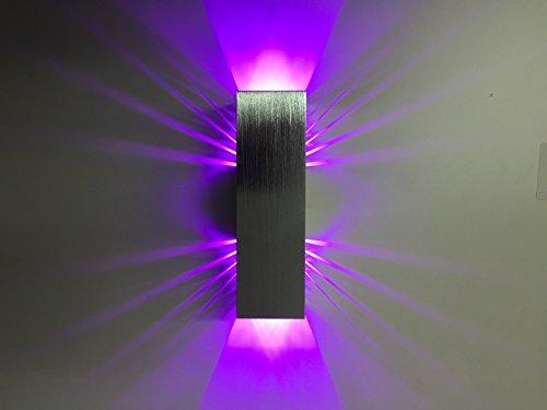 SpiceLED - Lampada da parete a LED/ShineLED-10 / con base in vetro acrilico, 2x5W, a LED, luce nera effetto luce UV