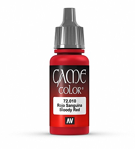Vallejo Game Color 17ml VERNICE ACRILICA–Parent Bloody Red