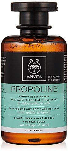 Apivita Shampoo für fettige Wurzeln und trockene Spitzen, Brennnessel und Honig, 250 ml