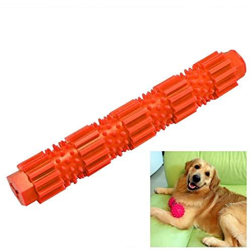 Hundespielzeug Chew Toy Welpen Zahnpflege Ausbildung for kleine und mittelgroße Hunde Progressive Chew Molar Hundetraining Spiel mit Griff Knot Spielzeug, 18cm Huangchuxin (Color : Orange)