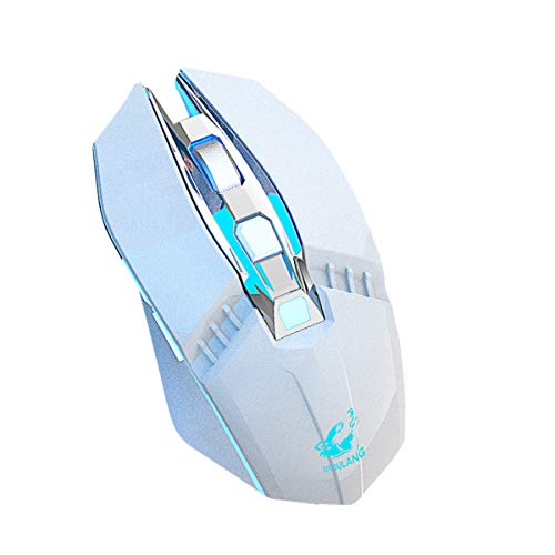OhhGo 2.4 GHz + BT Connection Wireless Optical Mouse with LED Backlit 6 Buttons Ergonomic Mouse for Laptop PC Computer