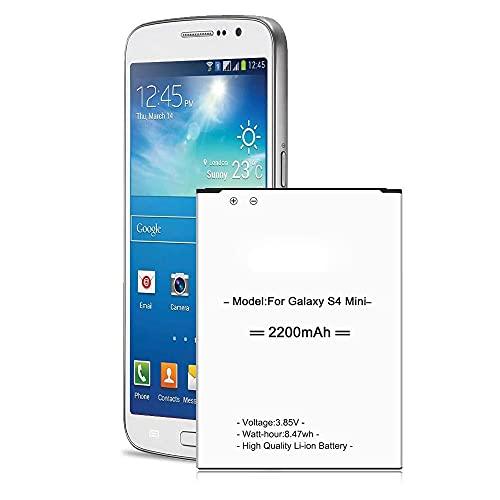 Batteria di ricambio per Samsung Galaxy S4 Mini, 2200 mAh, ai polimeri di litio per S4 Mini LTE GT-i9190 GT-i9195, Samsung S4 Mini, non compatibile con Galaxy S4