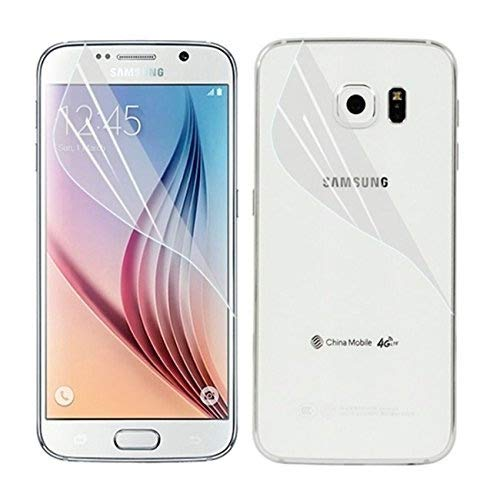 Compatible with Samsung Galaxy S6 Edge Full Glue Edge to Edge PET Screen Guard Film Front & Back Soft TPU Clear Matte by COVERS ECLAT MOBITECH LLP