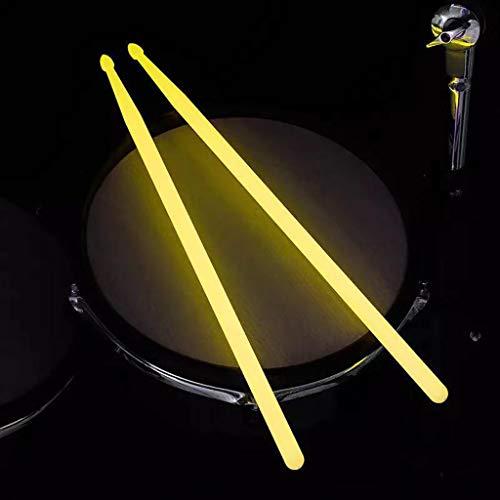 Drumsticks hochwertiges 10 Drum Sticks (5 Paare) 5A Fluoreszierender Drum Stick Leuchtender Drum Stick Drum Drum Stick Jazz Drum Stick Bühnenleistung Nylon Illuminated Drum Stick (Grün,Blau,Gelb)