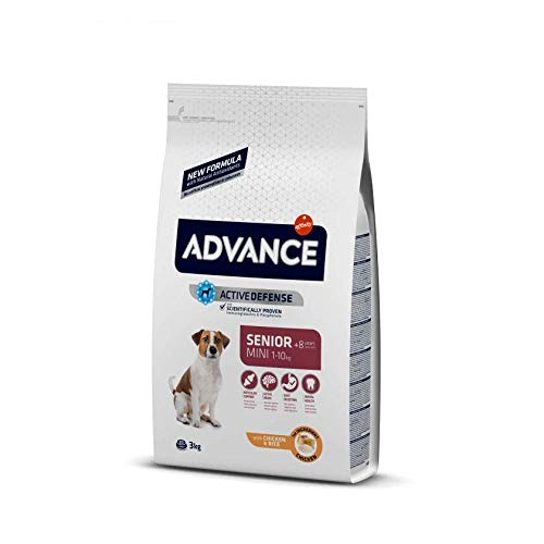 AFFINITY Advance Canine Senior Razas Mini Pollo ARROZ 1,5KG, Negro, Estandar, 1500 🔥