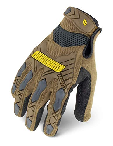 Ironclad Command Impact Work Gloves; Touch Screen Gloves Conductive Palm & Fingers, Impact Protection, Machine Washable, Sized S, M, L, XL, XXL (1 Pair)