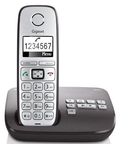 Gigaset E310A Telefon - Schnurlostelefon / Mobilteil - Grafik Display - Grosse Tasten Telefon - Anrufbeantworter - Freisprechfunktion - Analog Telefon - Anthrazit