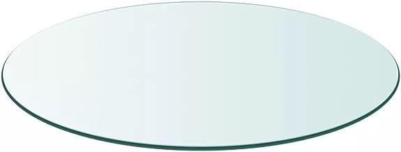 vidaXL Tischplatte Gehärtetes Glas Ø 600 mm Tisch Glasplatte Platte Esstisch