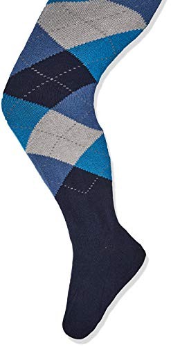Country Kids Argyle Tight Collants, Bleu (Blue/Dark Blue Nubuck/A), 3 (Taille Fabricant: 3-5 Ans) Fille