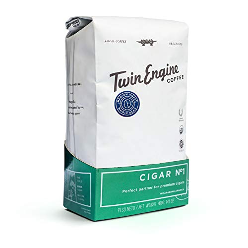 Twin Engine Coffee NICARAGUAN CIGAR BLEND #1 - Medium Roast, Whole Bean, Nicaraguan Coffee, 400g 14.1oz   Rich Specialty Grade Coffee packaged at the source   Nicaragua's Coffee