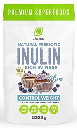 Inulin Pulver 1kg | 100% Vegan | Natürliche Prebiotisches | Natürlichen Chicorée Wurzeln |