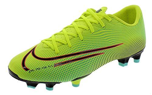 Nike Vapor 13 Academy MDS FG/MG, Zapatillas de fútbol Hombre, Lemon Venom Black Aurora-Botas de esquí, Color Verde y Negro, 43 EU