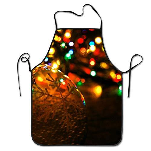 N\A Weihnachten Neon Lichter Home Salon Schürze koreanischen Stil wasserdichte Schürze Familie Unisex Cartoon Schürzen zum Kochen Backen Garten Aufräumen