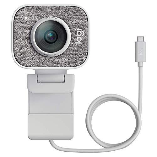 Logitech Streamcam Webcam avec USB-C Pour Le Streaming Et La Création De Contenu, Vidéo Verticale Full HD 1080p, Double Fixation De La Caméra, - Blanc (Reconditionné)