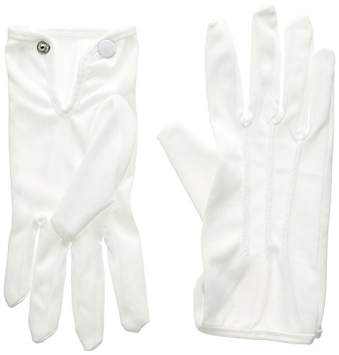 Beistle Deluxe Theatrical Gloves 1 Pair Awards Night Party Supplies Costume Accessory, White