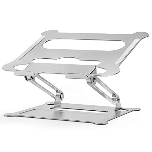 Besign LS05 Aluminum Laptop Stand, Ergonomic Adjustable Notebook Stand, Riser Holder Computer Stand Compatible with MacBook Air Pro, Dell, HP, Lenovo More 10-15.6' Laptops (Silver)