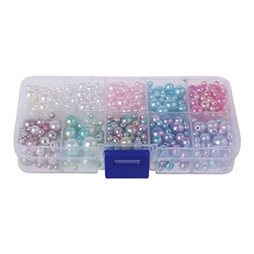 yhdcc44 540 cuentas redondas de perlas con agujero para manualidades, collares y anillos de joyería para hacer anillos de moda